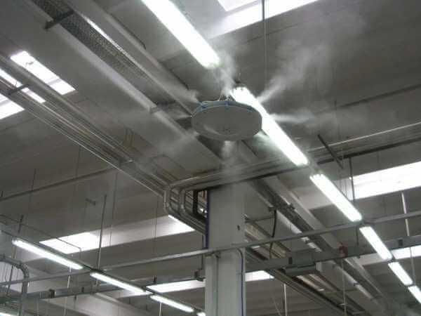 туманообразование на текстильной фабрике